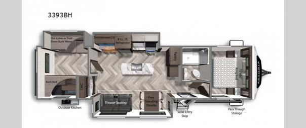 Astoria 3393BH Floorplan