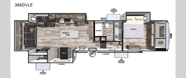 Cardinal Limited 366DVLE Floorplan