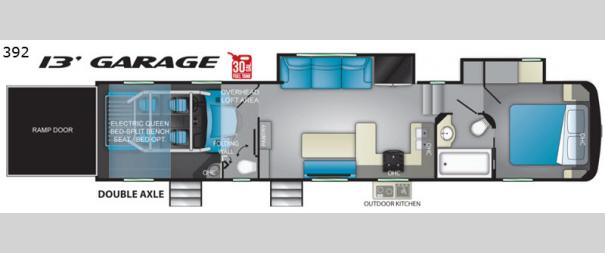 Road Warrior 392RW Floorplan
