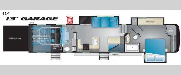 Road Warrior 414RW Floorplan