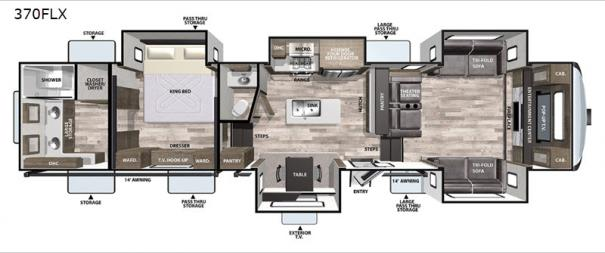 Cardinal Luxury 370FLX Floorplan