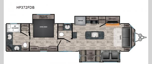 Hampton HP372FDB Floorplan