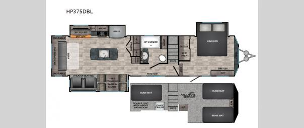 Hampton HP375DBL Floorplan