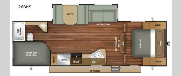 Autumn Ridge Outfitter 26BHS Floorplan