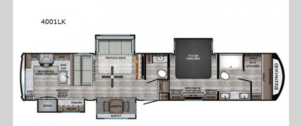 Redwood 4001LK Floorplan