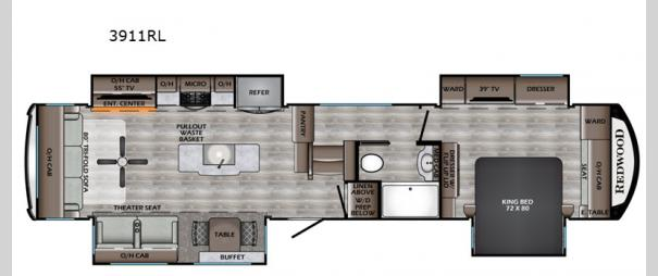 Redwood 3911RL Floorplan
