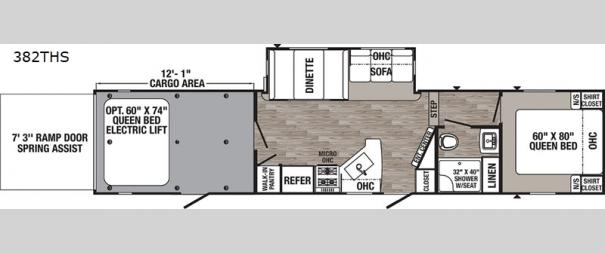 Puma Unleashed 382THS Floorplan