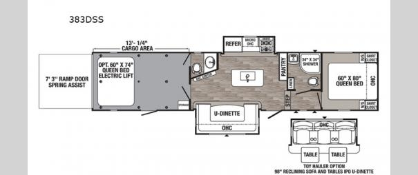 Puma Unleashed 383DSS Floorplan
