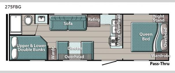 Kingsport 275FBG SE Series Floorplan