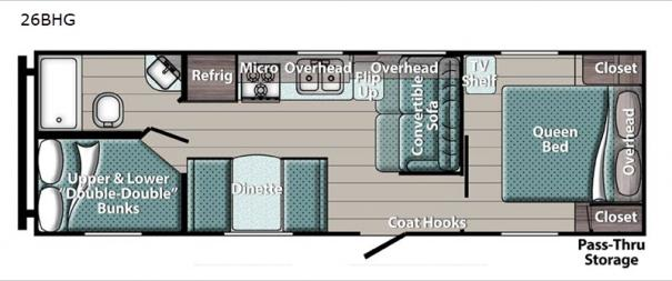 Kingsport 27BHG SE Series Floorplan