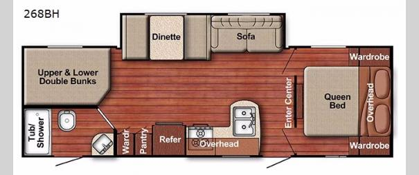 Kingsport Ultra Lite 268BH Floorplan