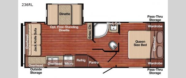 Kingsport Ultra Lite 236RL Floorplan
