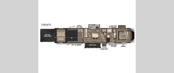 Venom V-Series V3916TK Floorplan