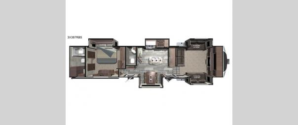 Open Range 3X 387RBS Floorplan