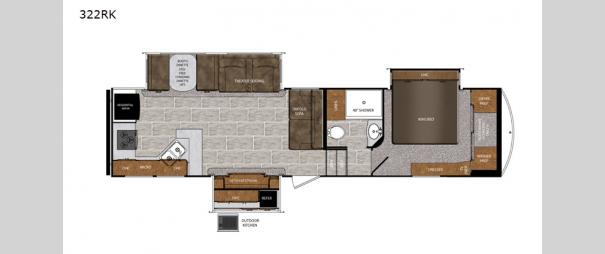 Wildcat 322RK Floorplan