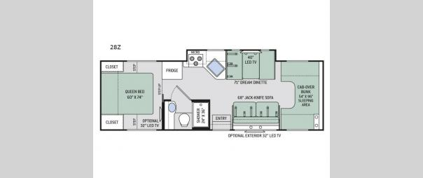 Four Winds 28Z Floorplan