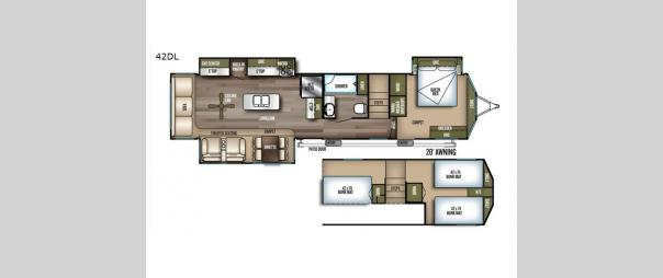 Wildwood Grand Lodge 42DL Floorplan