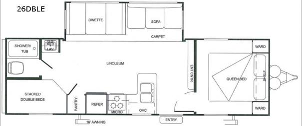 Salem 26DBLE Floorplan