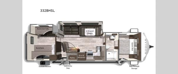 Kodiak Ultra-Lite 332BHSL Floorplan