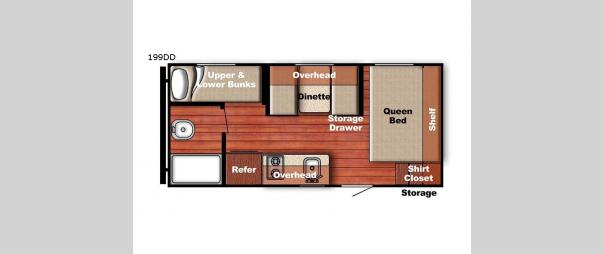 Kingsport Super Lite 199 DD Floorplan