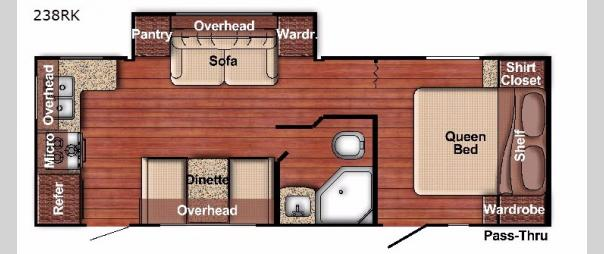 Kingsport Ultra Lite 238RK Floorplan