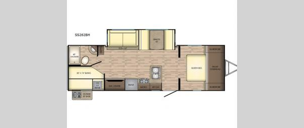 Sunset Trail Super Lite SS262BH Floorplan