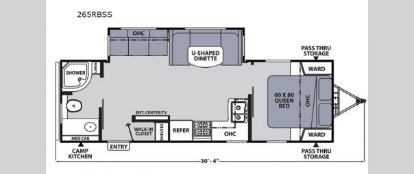 Apex Ultra-Lite 265RBSS Floorplan