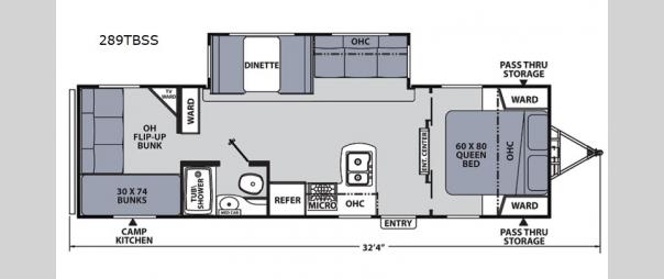 Apex Ultra-Lite 289TBSS Floorplan