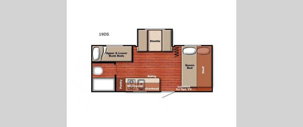 Kingsport Super Lite 19DS Floorplan