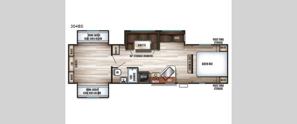 Cherokee 304BS Floorplan