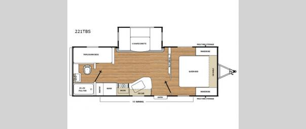 Catalina SBX 221TBS Floorplan