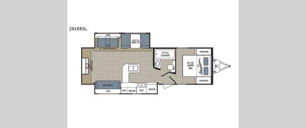 Kodiak Ultimate 291RESL Floorplan