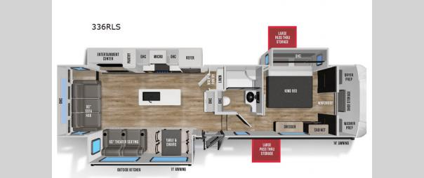 Wildcat 336RLS Floorplan