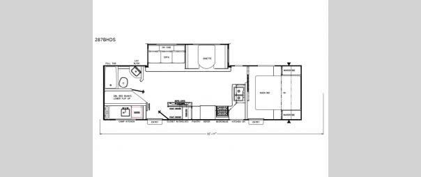 Freedom Express 287BHDS Floorplan
