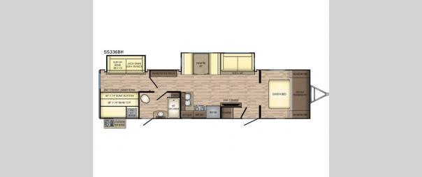 Sunset Trail Super Lite SS336BH Floorplan
