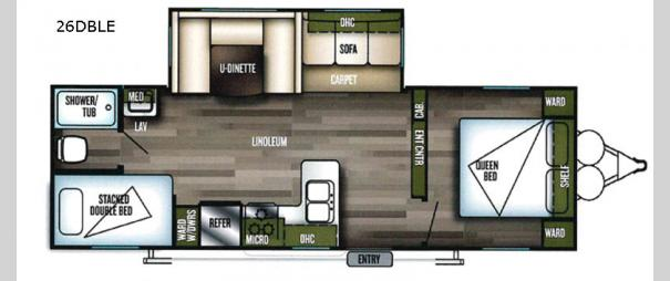 Wildwood 26DBLE Floorplan