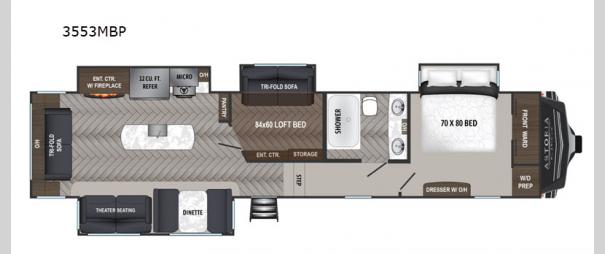 Astoria 3553MBP Floorplan