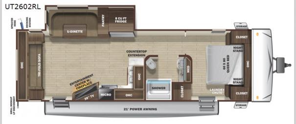 Open Range Ultra Lite UT2602RL Floorplan