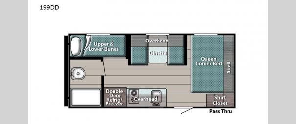 Kingsport Super Lite 199DD Floorplan