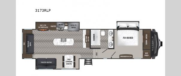Astoria 3173RLP Floorplan