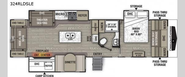Freedom Express Liberty Edition 324RLDSLE Floorplan