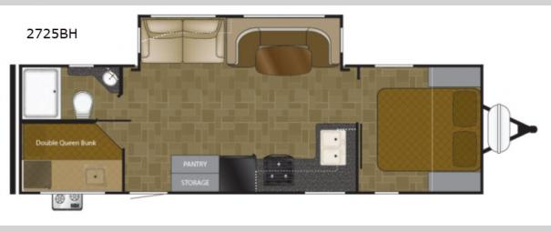 Wilderness 2725BH Floorplan