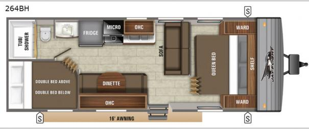 Jay Flight SLX 8 264BH Floorplan