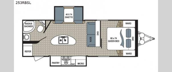 Kodiak Ultra Lite 253RBSL Floorplan