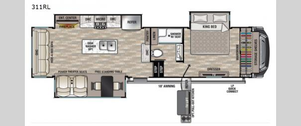 Cedar Creek 311RL Floorplan