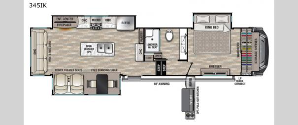 Cedar Creek 345IK Floorplan