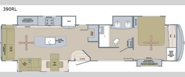 Columbus River Ranch 390RL Floorplan