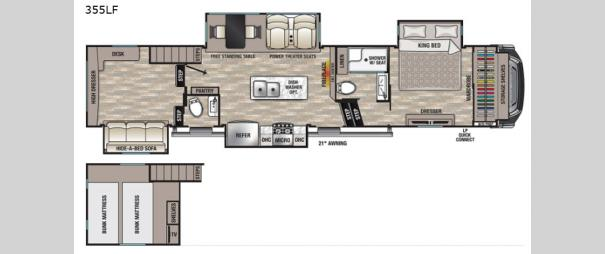 Cedar Creek 355LF Floorplan