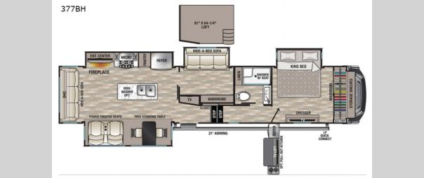 Cedar Creek 377BH Floorplan
