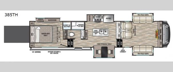 Cedar Creek 385TH Floorplan
